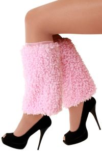 Beenwarmers Pluche Curly Roze