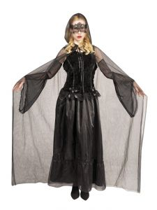 Halloween Dames Verkleedjurk Gothic Black Widow